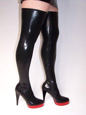 Latex 100% Overknee Stiefel  37 38 39 40 41 42 43 44 45 46 47 Bolingier FS836