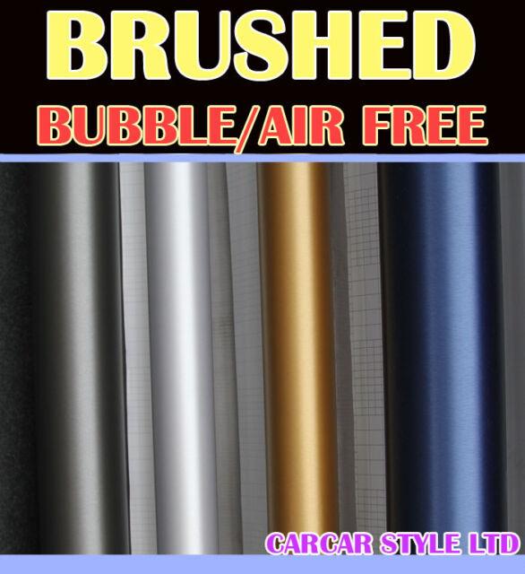 【BRUSHED】Vehicle Wrap Vinyl Sticker Film 【0.3m(11.8in)x1.52m(59.8in) Air Free】