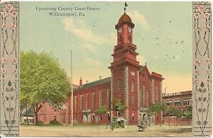 Lycoming-County-Court-House-Williamsport-PA-Postcard