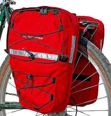 New Bushwhacker Moab Red Bike Pannier Bicycle Rack Cycling Cargo Bag Rear Pack