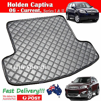 Holden Captiva 7 Boot Liner Cargo Mat Tailored Made Extra Heavy Duty PU Leather