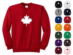 Canadian Flag Maple Leaf Symbol Canada Adult Funny Crewneck ...