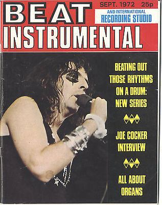 BEAT INSTRUMENTAL No 112 Sept 1972 Fleetwood Mac Graham Bond Alice Cooper