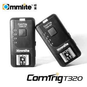 Commlite ComTrig T320 Auto-sensing Flash Trigger for Canon,Nikon 1C Remote Cable