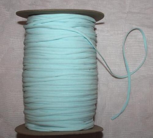 0,50 €//m 5 M spaghetti disque 4,5 mm élastique trägerband couleurs bande coudre NEUF