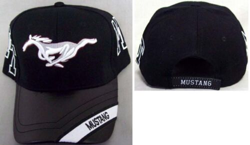New with Faux Leather Brim 221 Mustang Horse Embroidered Cap Hat