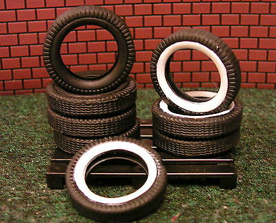 8 SOFT RUBBER TIRES WITH PALLET Garage Shop Accessories-1:24 (G) Scale DIORAMA