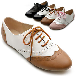 New-Womens-Shoes-Classics-Dress-Lace-Ups-Oxfords-Flats-Low-Heels-Multi-Colored