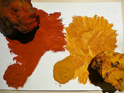 3 x 50 GRAMS BAG OFAMBER, RED, YELLOW OCHRE AUSTRALIAN NATURAL EARTH PIGMENT