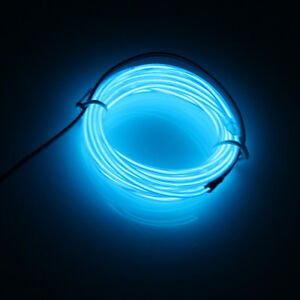 10ft Flexible Neon Light Glow EL Wire Rope Tube Car Dance Party