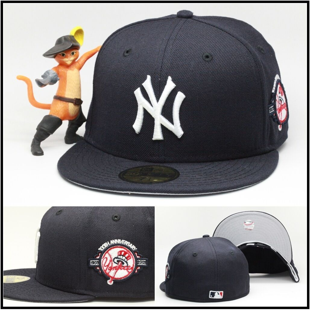 a8d8680da9dbd ... wholesale new era new york yankees fitted hat cap 100th anniversary  side patch mlb 59fifty 73d2c ...