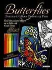 Butterflies Stained Glass Coloring Fun by Ed Sibbett (Paperback, 2007)