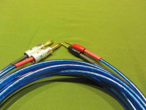 Samurai  14 AWG Wire Speaker Cable 2 Banana Plugs to 2 Pin Banana 6 Ft.