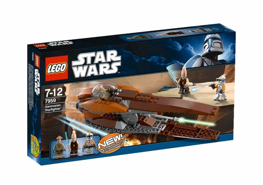 Geonosian Starfighter STAR WARS Lego Set 7959 New 2011 RETIRED Sealed 3 Minifigs