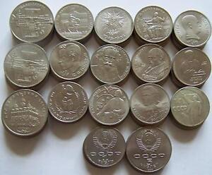 82 Russland Münzen 1 5 Rubel Sondermünzen Schönes Lot Ebay