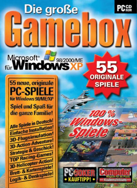 Die große Gamebox - 55 originale Spiele (PC, 2004, Papp-Box)