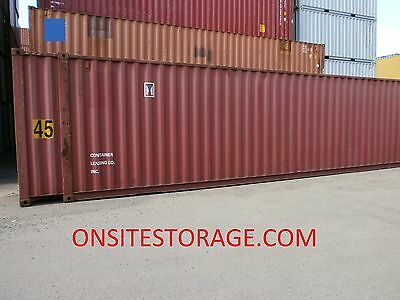 Used 45' High Cube Steel Storage Container Shipping Cargo Conex  Seabox Houston