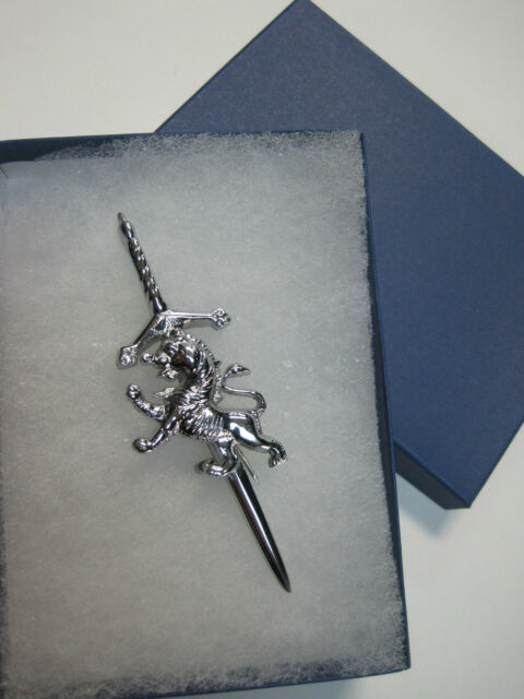 NEW Rampant Lion Pin Accessory for Kilts With GIFT BOX