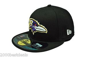 New Era 59Fifty Cap NFL Baltimore Ravens Mens Black On Field Fitted ... f7b920fdd