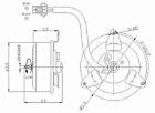 Engine Cooling Fan Motor Right TYC 630490