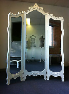 New French Provincial Room Divider Tri Fold Dressing