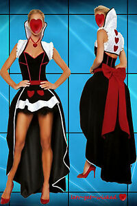 Womens-Sexy-Queen-Of-Hearts-Fancy-Dress-Costume-Alice-In-Wonderland