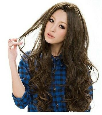 3 Colors New Style Womens Girls Sexy Long Fashion Curly Full Wavy Hair Wig