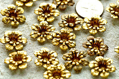 16pcs Solid Brass Filigree Stamping Flowers 16mm bf18