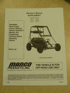 MANCO-MODEL-485-25-485-26-485-241-GO-KART-PARTS-LIST-OPERATORS-MANUAL-CART