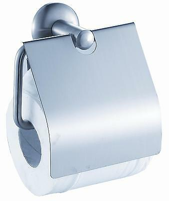 Classic Series -- Toilet Roll Holder with Cover (Chrome Finish)