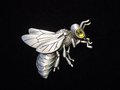 """""""JJ"""" Jonette Jewelry Silver Pewter 'Big EYE Bee' Pin"""