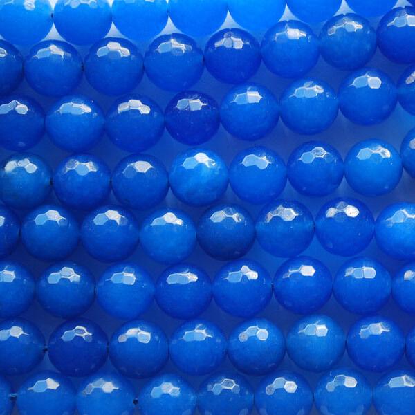"16""  Genuine Gemstone Blue Quartz Faceted Round Beads 6mm, 8mm, 10mm"