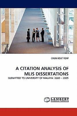 Dissertation citation analysis
