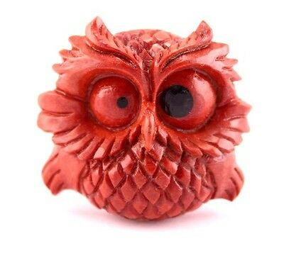 New Organic Hand-Craved Night Owl plugs made from Chocolate Sabo Wood.(2G-1inch)