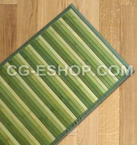 Tappeto bamboo sfumato passatoia cucina ingresso cm 55x280 verde verdino ebay - Tappeto cucina bamboo ...