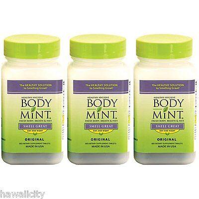 Body Mint 3 PACK Total Hawaiian Body Deodorant from Hawaii - FREE SHIPPING