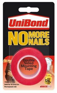 Unibond-No-More-Nails-Double-Sided-Mounting-Hanging-Tape-Roll-RED-Permanent