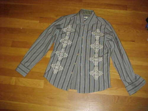 191 Unlimited Youth Grey Shirt Boys Small Long Sleeve Shirt