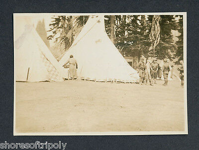 EARLY 1900's NATIVE AMERICAN INDIAN ~ SOLDIERS ~ BOY SCOUTS ~ ORIGINAL PHOTO