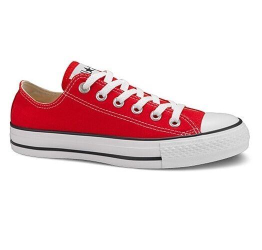 b8e9b4ca4fb8 Converse All Star Chuck Taylor Ox Shoes Trainers Red M9696C 10