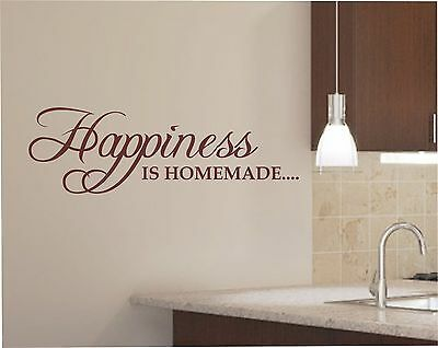 Happiness is homemade Kitchen Wall Art Sticker, Decal, Graphic K18