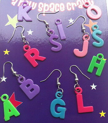 UNIQUE KITSCH PERSONALISED LETTER INITIAL EARRINGS