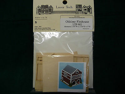 1/144th scale Wood Dollhouse Miniature Oldtime Firehouse Kit by Laser Tech