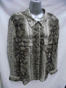 BNWT-Womens-Sz-16-Gorgeous-Soft-Floaty-Snake-Print-Now-Brand-Long-Sleeve-Shirt