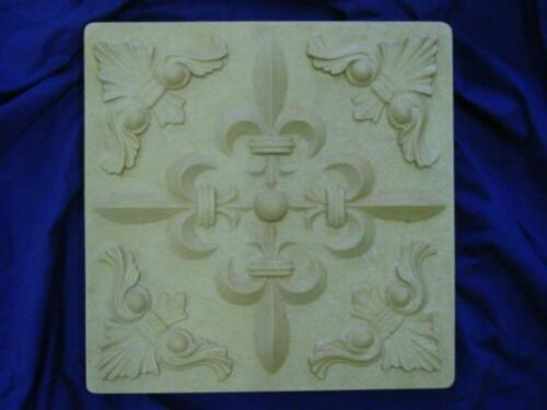 FLEUR DE LIS PLAQUE CONCRETE CEMENT STEPPING STONE MOLD 1248 Moldcreations