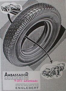 publicite pneu englebert ambassador voiture lourde de 1935 french ad tire pub ebay. Black Bedroom Furniture Sets. Home Design Ideas