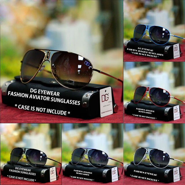New Mens Womens DG Eyewlear Designer Fashion Aviator Sunglasses Black Shades