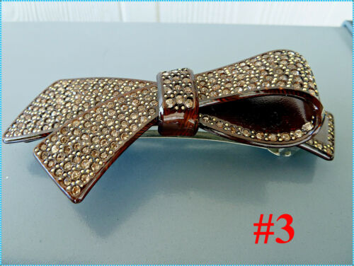NWT gift Hand micro inserted Bow-Tie 4x colours HAIR CLIPS//HAIR ACCESSORIES