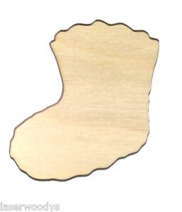 Baby-Bootie-Unfinished-Flat-Wood-Shapes-Cut-Outs-BB1012-Variety-Szs-Laser-Crafts