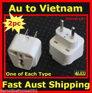 Au Nz Universal To Vietnam Premium Travel Plug Adaptor